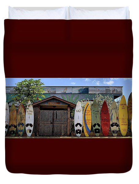 Upcountry Boards Duvet Cover by DJ Florek