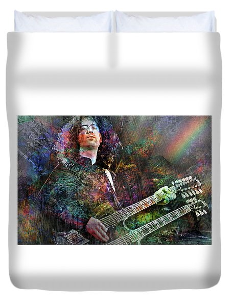 Upon Us All A Little Rain Must Fall Duvet Cover by Mal Bray