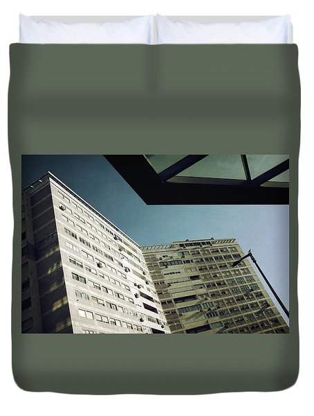 Urban Geometry Duvet Cover by Carlos Caetano