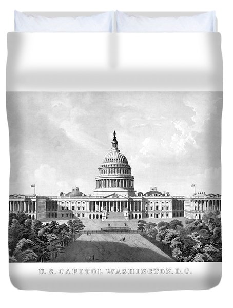 Us Capitol Building - Washington Dc Duvet Cover by War Is Hell Store