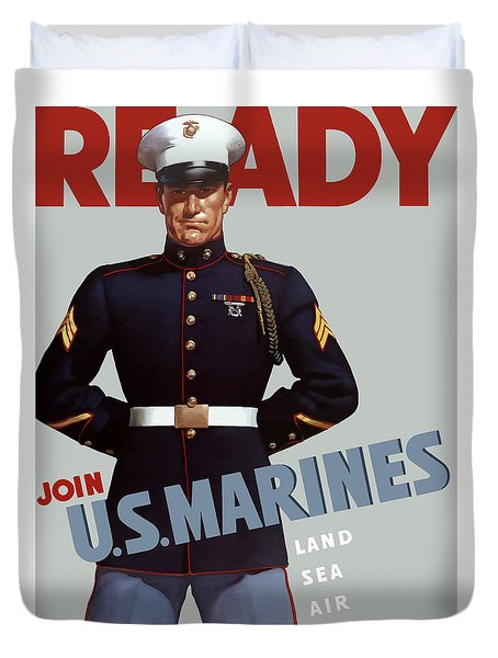 US Marines Ready Duvet Cover by War Is Hell Store