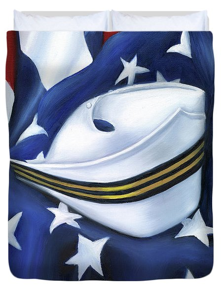U.s. Navy Nurse Corps Duvet Cover by Marlyn Boyd