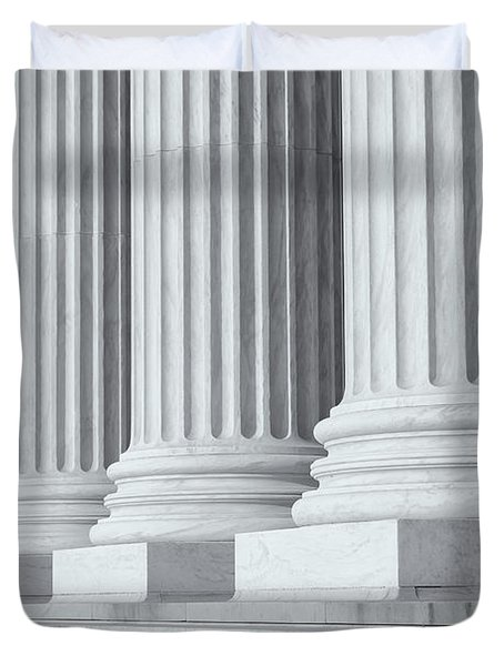 US Supreme Court Building IV Duvet Cover by Clarence Holmes