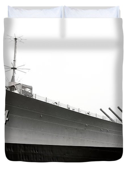 Uss Wisconsin - Port-side Duvet Cover by Christopher Holmes
