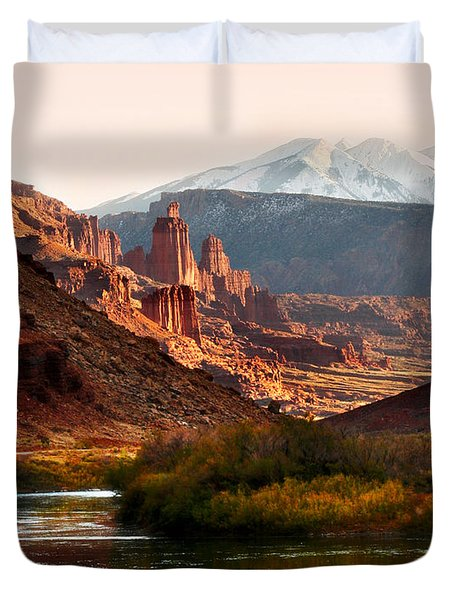 Utah Colorado River Duvet Cover by Marilyn Hunt