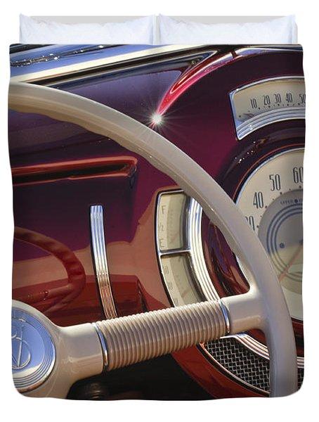 V8 Hot Rod Dash Duvet Cover by Jill Reger