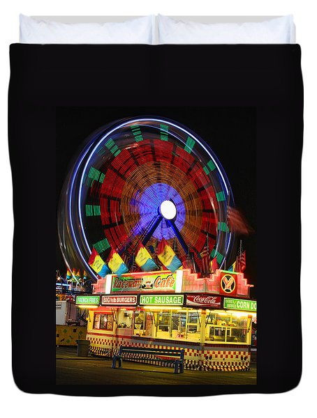 Vacant Carnival Bench Duvet Cover by James BO  Insogna