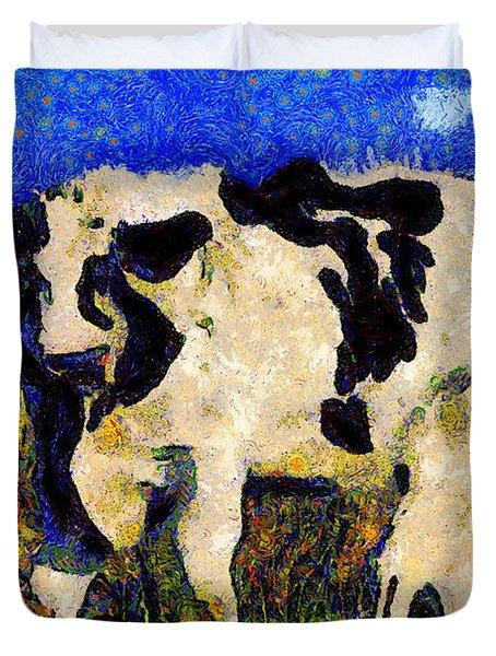 Van Gogh.s Big Bull . 7d12437 Duvet Cover by Wingsdomain Art and Photography