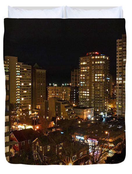 Vancouver Skyline Duvet Cover by Nancy Harrison