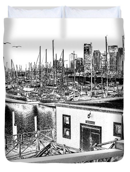 Vancouver Waterfront Duvet Cover by Will Borden