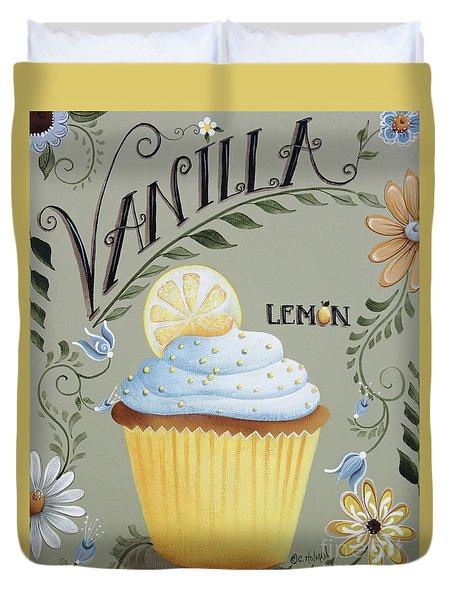 Vanilla Lemon Cupcake Duvet Cover by Catherine Holman