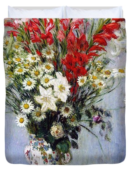Vase Of Flowers Duvet Cover by Claude Monet