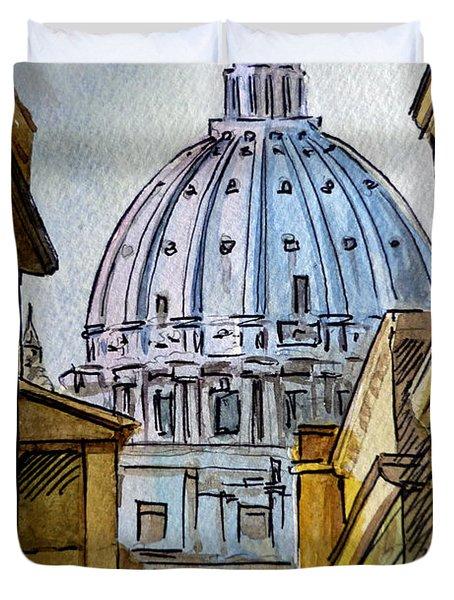 Vatican City Duvet Cover by Irina Sztukowski