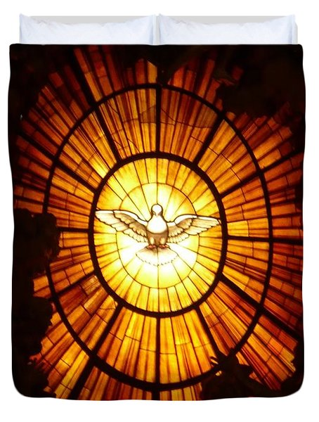 Vatican Window Duvet Cover by Carol Groenen