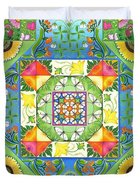 Vegetable Patchwork Duvet Cover by Isobel  Brook Haslam