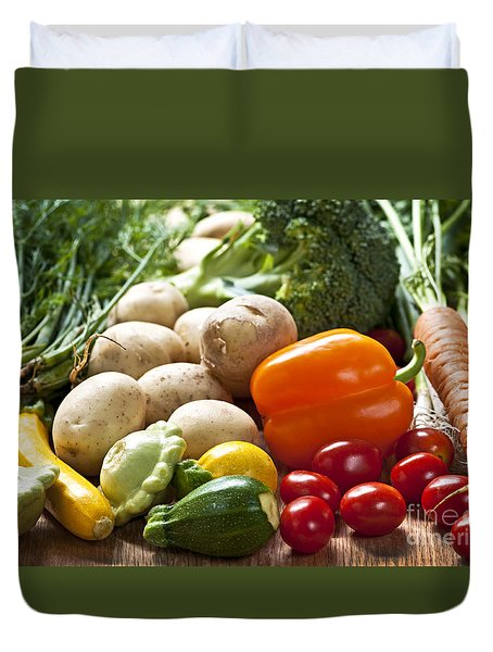 Vegetables Duvet Cover by Elena Elisseeva