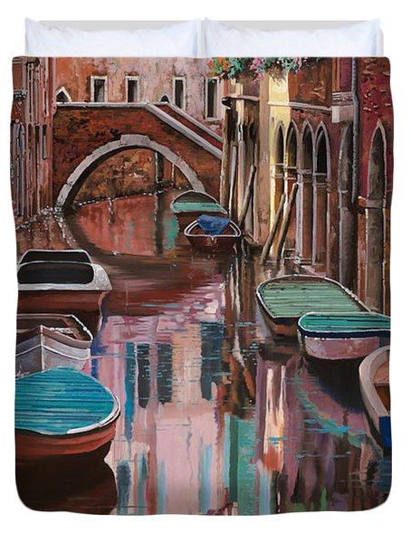 Venezia A Colori Duvet Cover by Guido Borelli