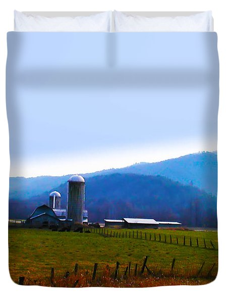 Vermont Farm Duvet Cover by Bill Cannon
