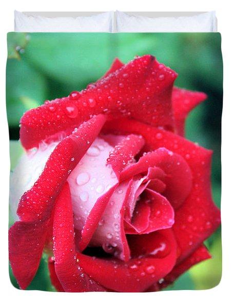 Very Dewy Rose Duvet Cover by Kristin Elmquist