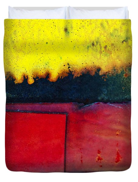 Vibrant Wall Colors Duvet Cover by Ray Laskowitz - Printscapes