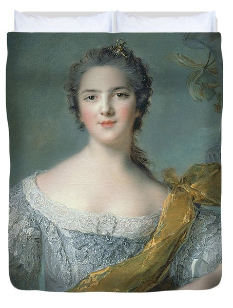 Victoire De France At Fontevrault Duvet Cover by Jean Marc Nattier