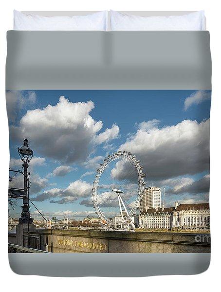 Victoria Embankment Duvet Cover by Adrian Evans