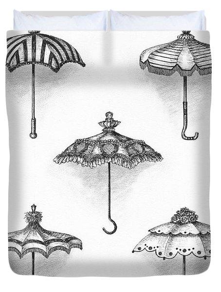 Victorian Parasols Duvet Cover by Adam Zebediah Joseph