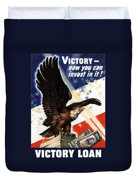 Victory Loan Bald Eagle Duvet Cover by War Is Hell Store