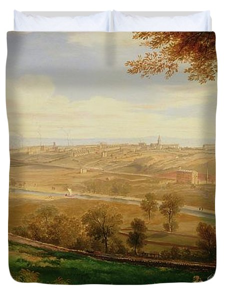 View Of Bradford Duvet Cover by William Cowen