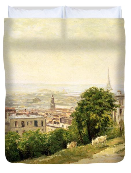 View Of Paris Duvet Cover by Stanislas Victor Edouard Lepine