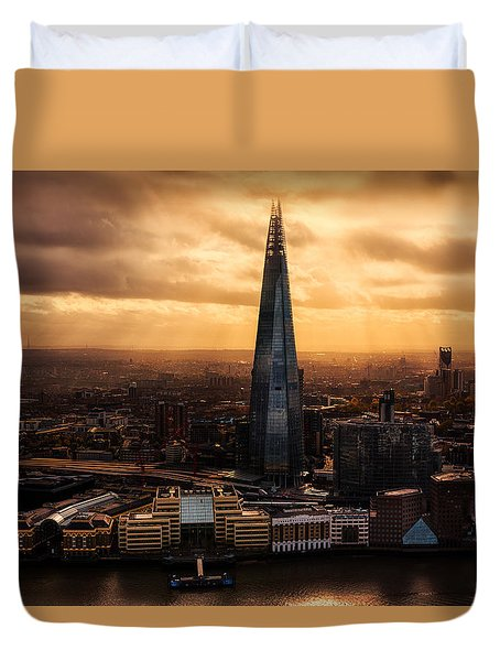 View Of The Shard Duvet Cover by Ian Hufton