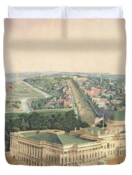 View Of Washington Dc Duvet Cover by Edward Sachse
