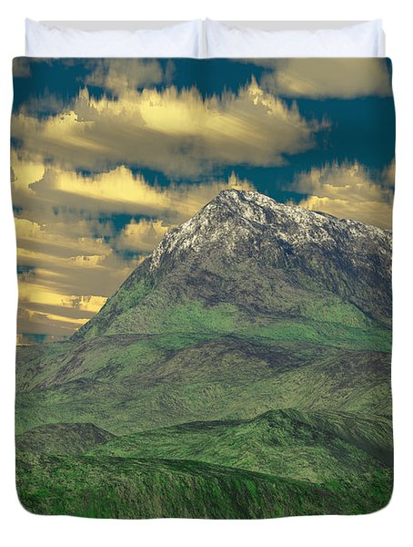 View To The Mountain Duvet Cover by Gaspar Avila