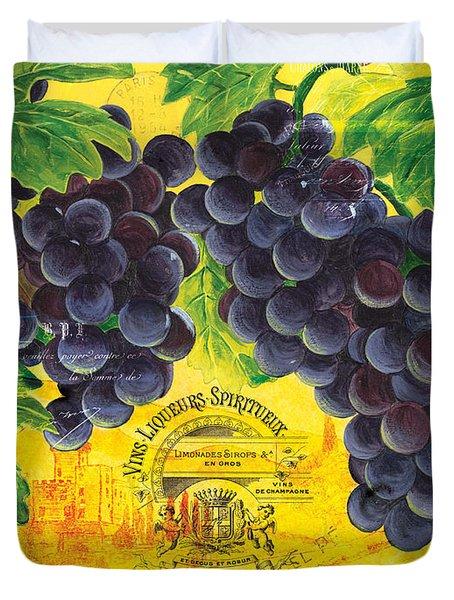 Vigne De Raisins Duvet Cover by Debbie DeWitt