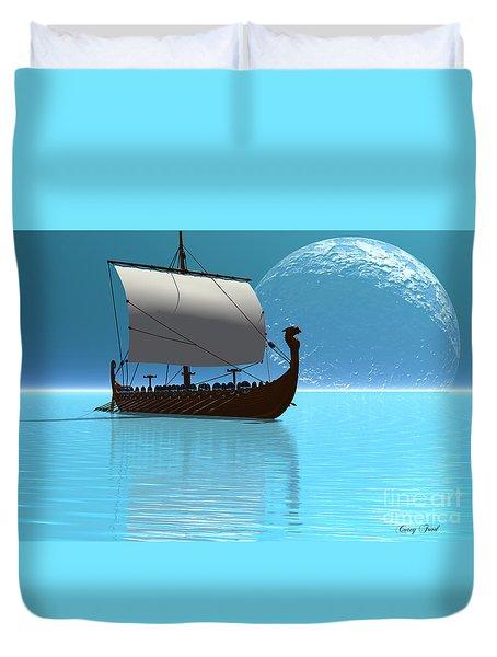 Viking Ship 2 Duvet Cover by Corey Ford