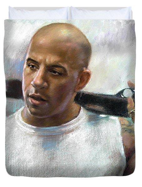 Vin Diesel Duvet Cover by Ylli Haruni