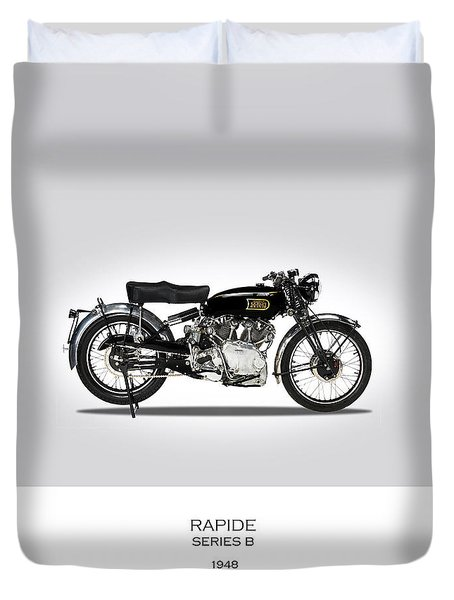 Vincent Hrd Rapide 1948 Duvet Cover by Mark Rogan