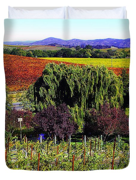 Vineyard 5 Duvet Cover by Xueling Zou
