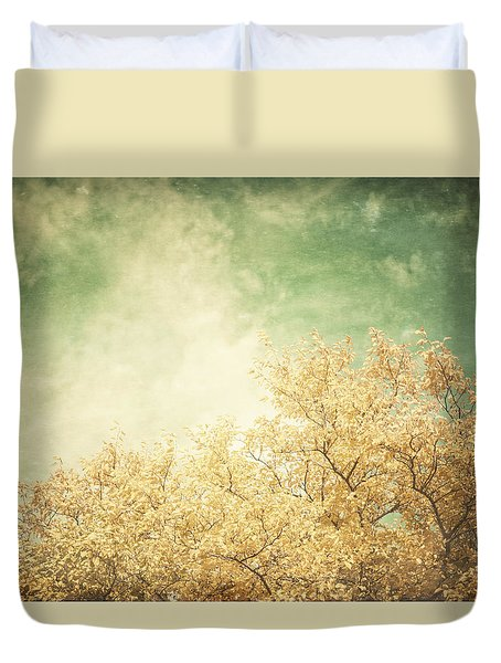Vintage Autumn Duvet Cover by Lisa Russo