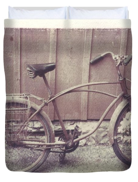 Vintage Bicycle Duvet Cover by Jane Linders