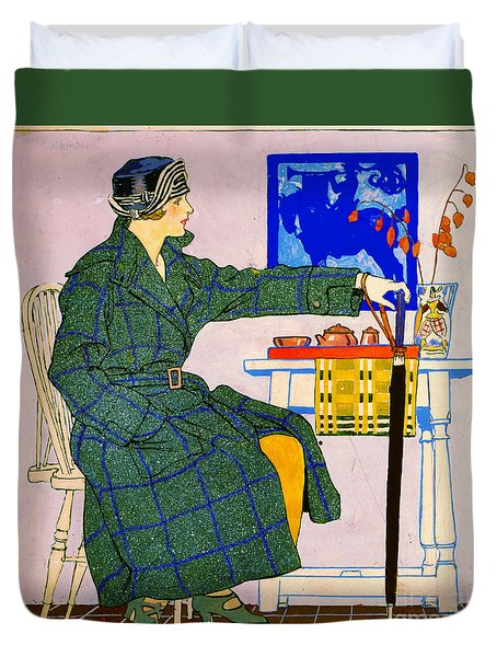 Vintage Clothing Advertisement 1910 Duvet Cover by Padre Art