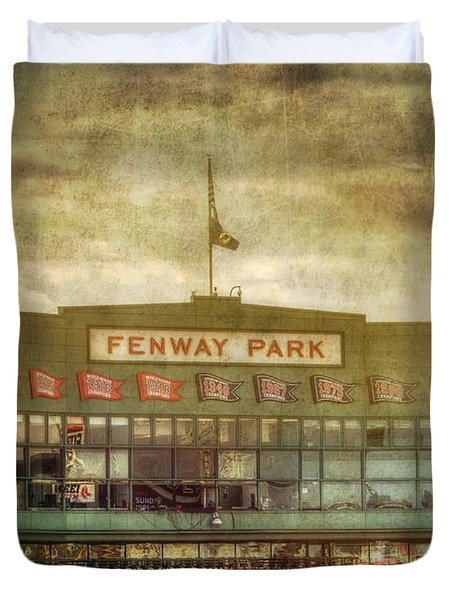 Vintage Fenway Park - Boston Duvet Cover by Joann Vitali
