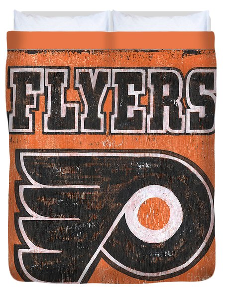 Vintage Flyers Sign Duvet Cover by Debbie DeWitt