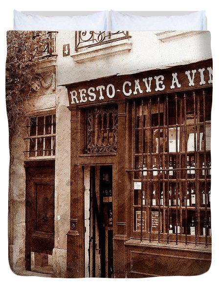 Vintage Paris 3 Duvet Cover by Andrew Fare
