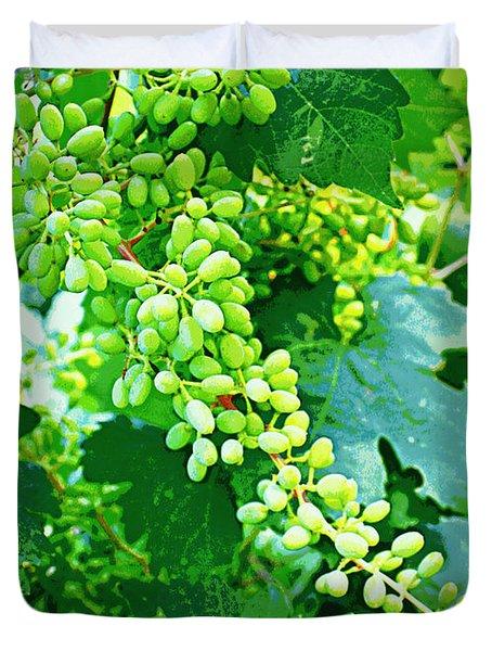 Vintage Vines  Duvet Cover by Carol Groenen