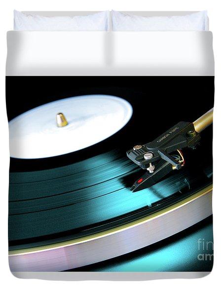 Vinyl Record Duvet Cover by Carlos Caetano