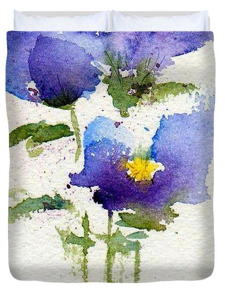 Violets Duvet Cover by Anne Duke