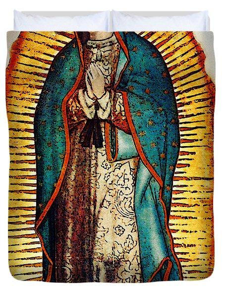 Virgen de Guadalupe Duvet Cover by Bibi Romer