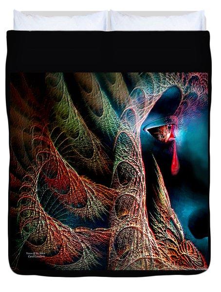 Vision Of An Artist Duvet Cover by Carol Cavalaris