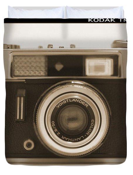 Voigtlander Rangefinder Camera Duvet Cover by Mike McGlothlen